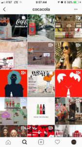 Coca Cola's Instagram Feed